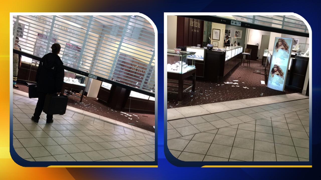 Man in custody after property damage at Fayetteville jewelry store