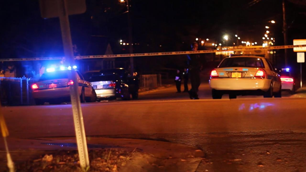 Police investigate shooting in the 500 block of Link Street.