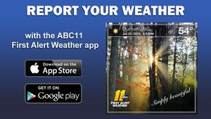 Report your weather with the ABC11 First Alert Weather app