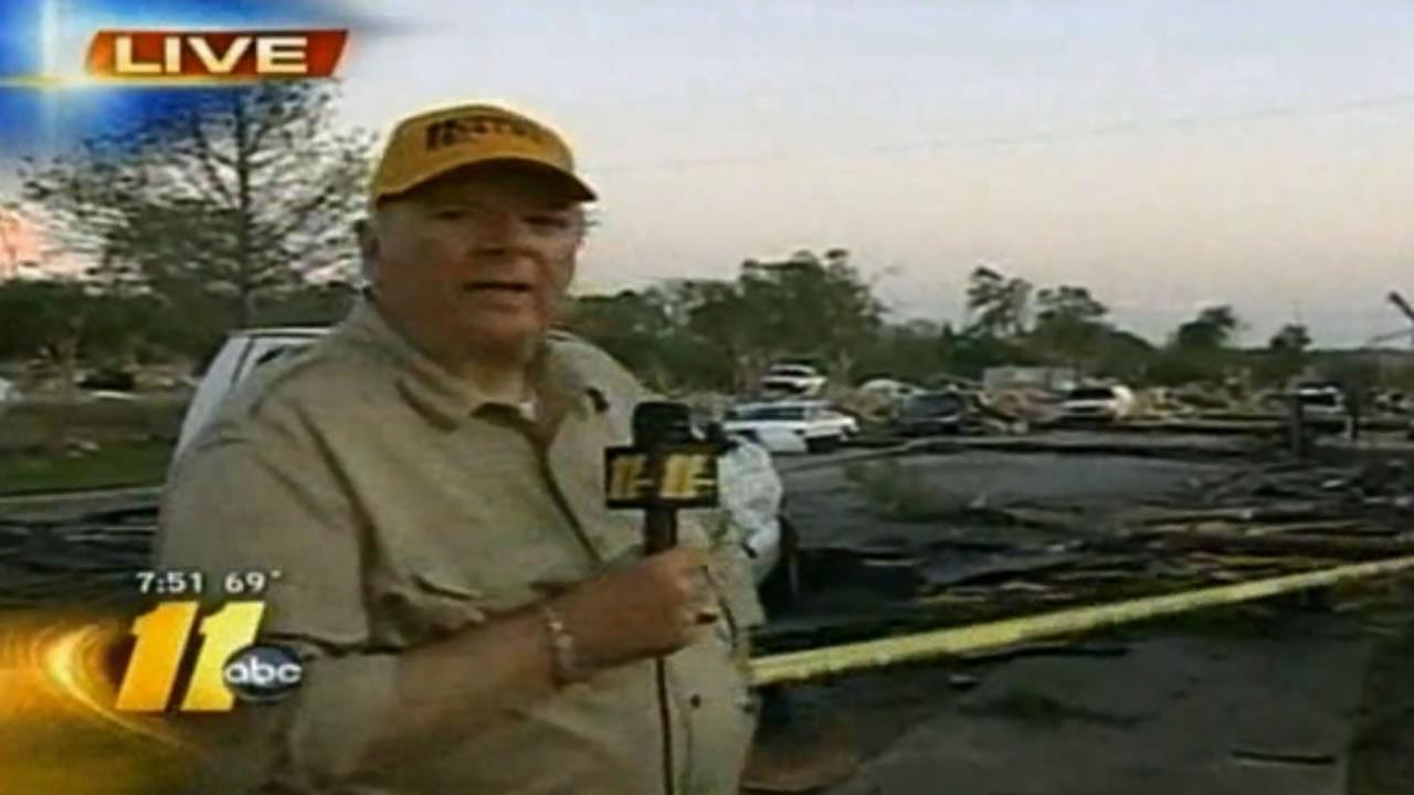 Larry Stogner reports after tornadoes hit Raleigh.