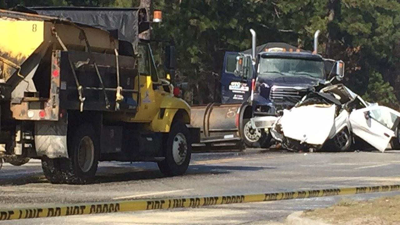 Pickup driver killed after colliding with tanker on icy Highway 87 in Spring Lake