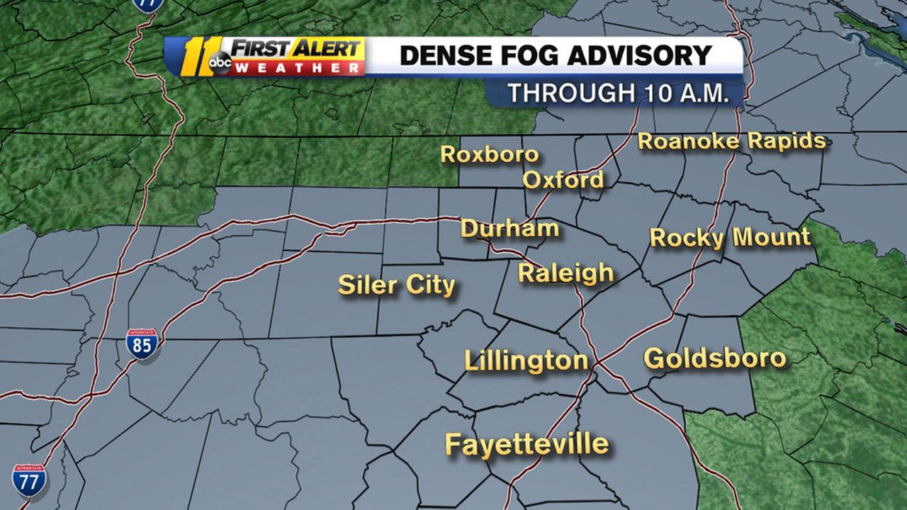 Dense fog advisory