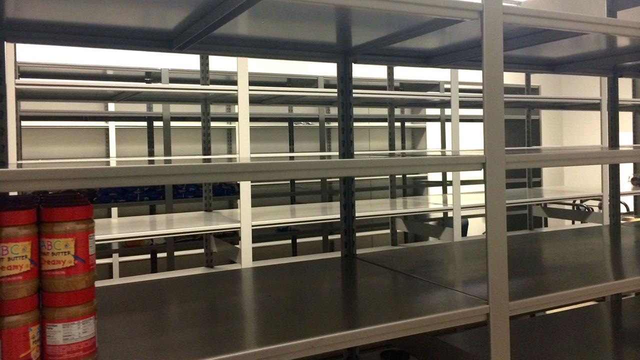 Empty shelves at the Salvation Army (Courtesy: Salvation Army of Wake County)