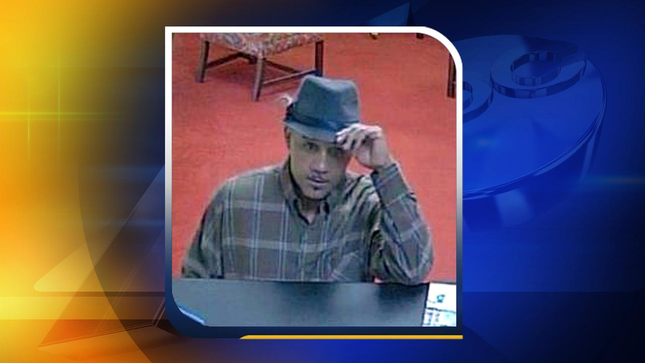 Surveillance photo of First Citizens Bank robbery suspect (Courtesy: Raleigh Police Department)