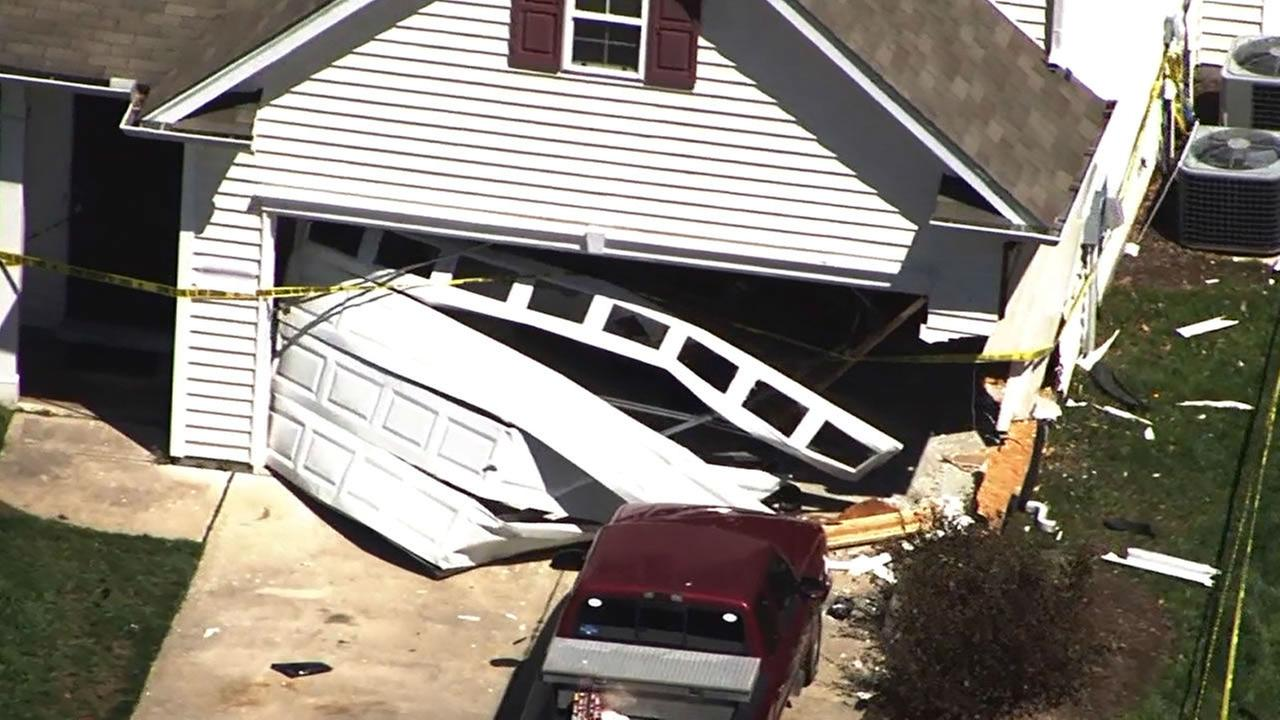 Car rams Creedmoor home