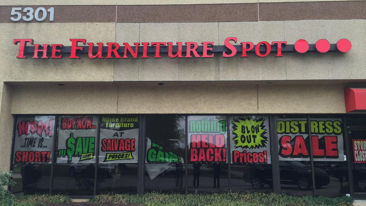 For the past several months, The Furniture Spot had been advertising a closing sale
