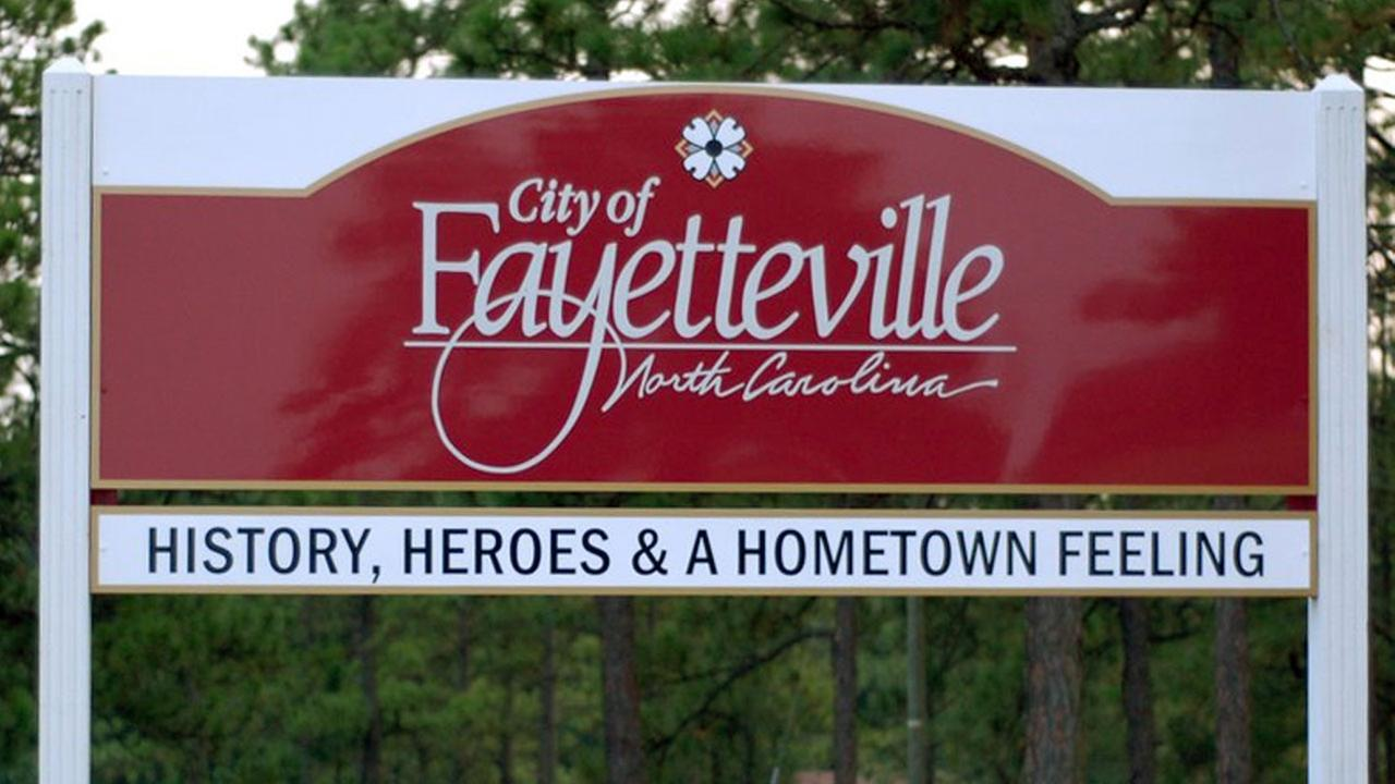 City of Fayetteville sign