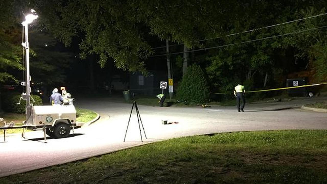 Fatal accident scene -- child struck and killed in Cary
