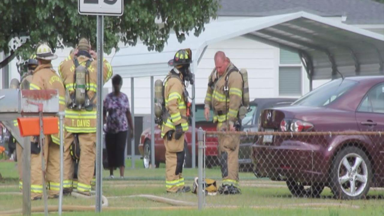 A Fayetteville home caught fire on Wednesday evening