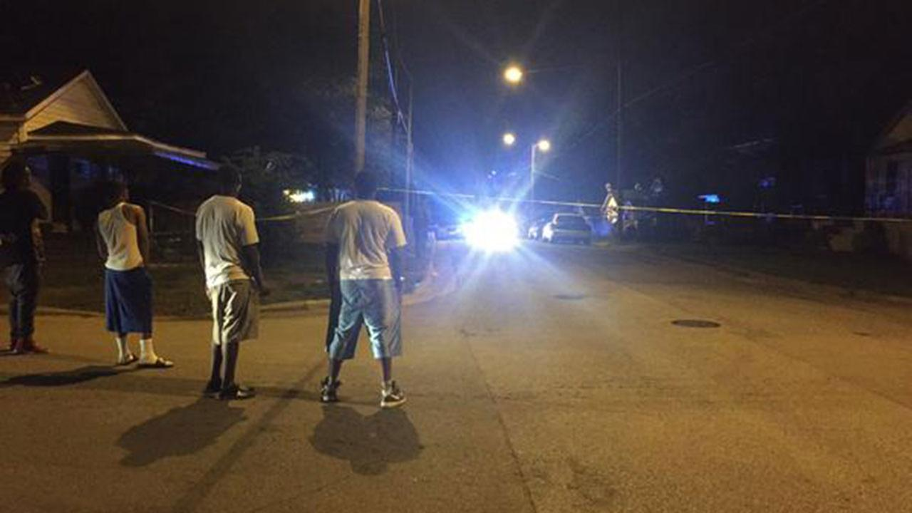 Witnesses at the scene of a shooting on Quarry Street in Raleigh