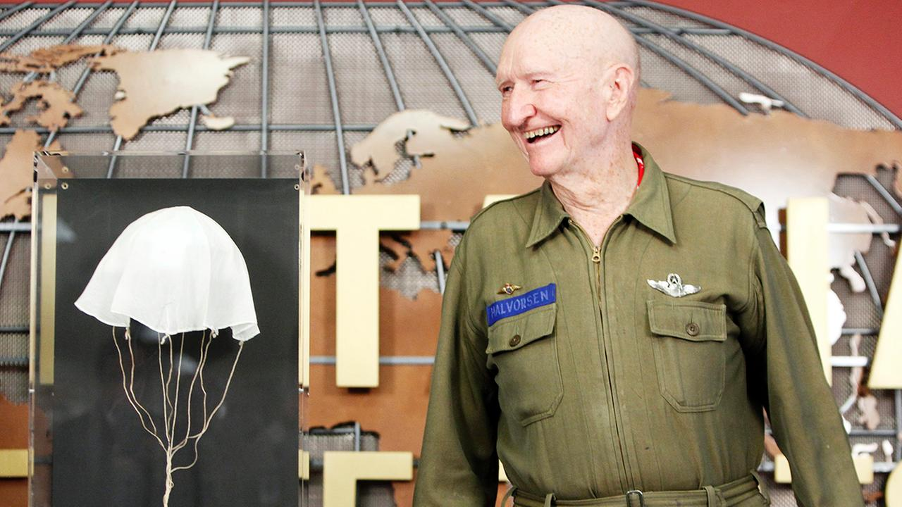 Retired Air Force Col. Gail Halvorsen is known as the Candy Bomber, for the small candy-laden parachutes he dropped from his aircraft to children during the Berlin Airlift