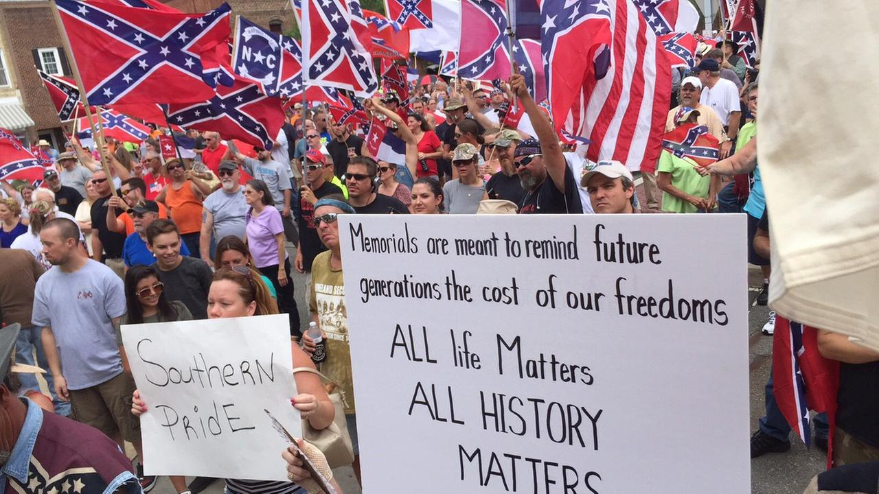Pro-Confederate rally in Graham