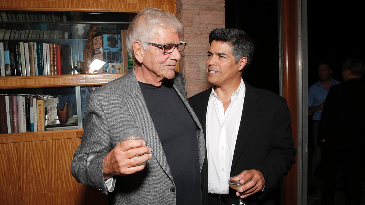 Alex Rocco, left, and Esai Morales attend the Magic City season 2 premiere after party on Monday, June 3, 2013, in Los Angeles. Photo by Todd Williamson/Invision for Starz/AP Images