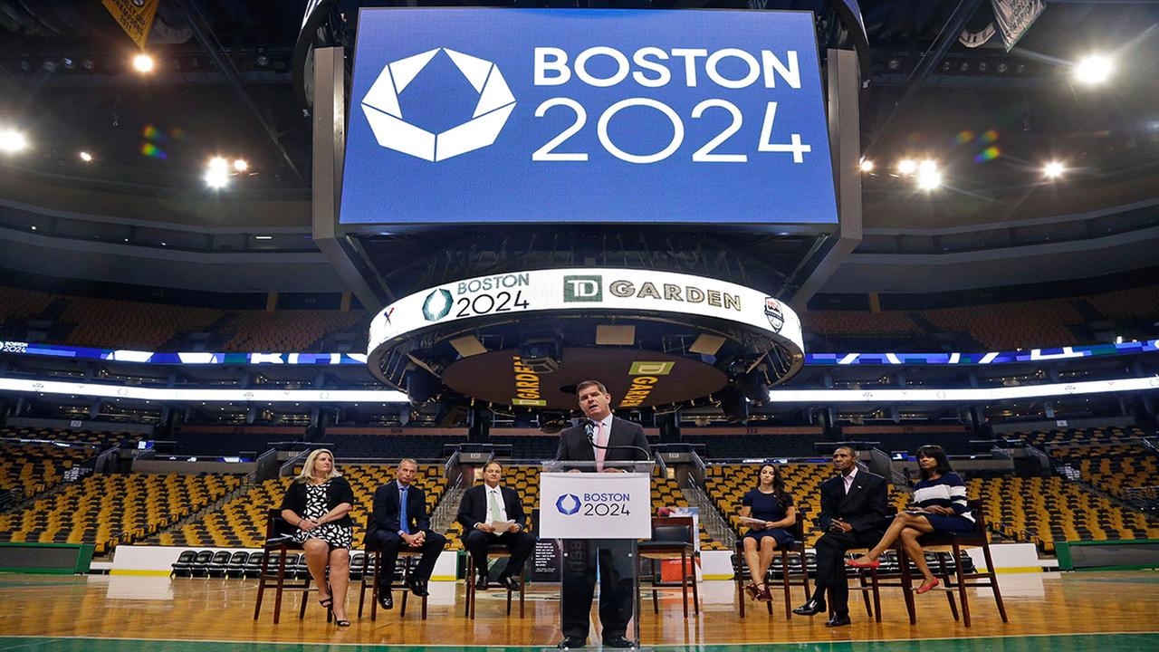 Boston Mayor Marty Walsh speaks at a news conference