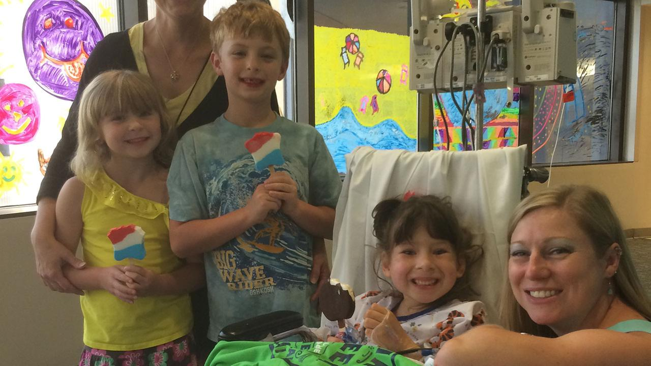 Andrew and Christina Valkanoff handed out 400 ice cream bars at Duke Childrens Hospital for Miracle Treat Day