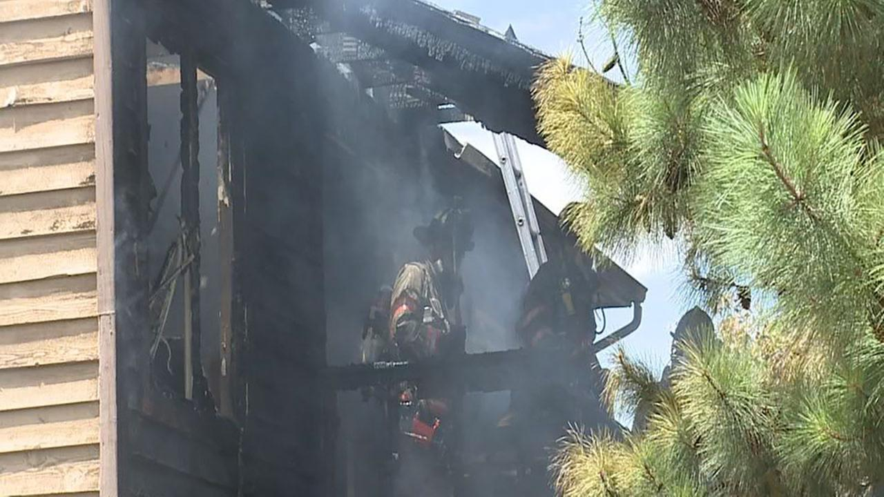 Firefighters responded to an apartment fire in Durham on Sunday