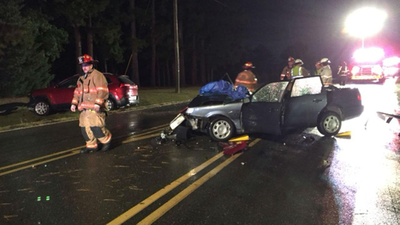 Accident on McLemore Road in Clayton Tuesday night.