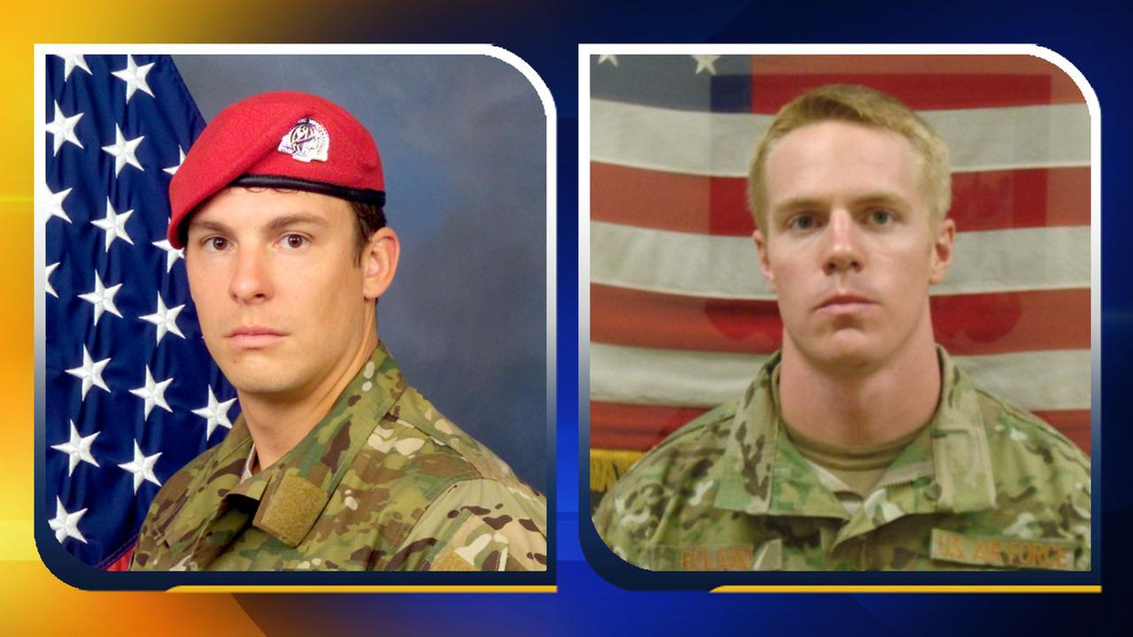 Staff Sergeant Forrest B. Sibley and Captain Matthew Roland