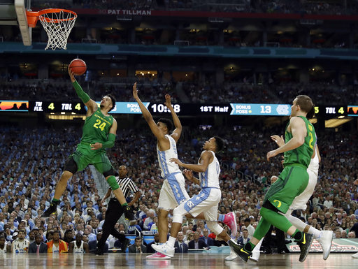 "<div class=""meta image-caption""><div class=""origin-logo origin-image none""><span>none</span></div><span class=""caption-text"">Oregon's Dillon Brooks (24) goes up for a basket  (AP Photo/David J. Phillip) (AP)</span></div>"