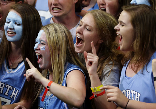 <div class='meta'><div class='origin-logo' data-origin='none'></div><span class='caption-text' data-credit=''>North Carolina fans cheer. (AP Photo/David J. Phillip)</span></div>