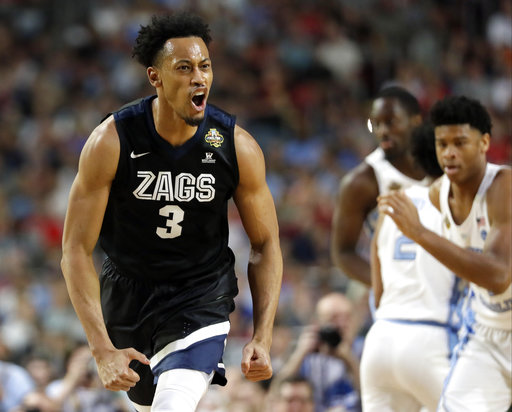 <div class='meta'><div class='origin-logo' data-origin='none'></div><span class='caption-text' data-credit=''>Gonzaga's Johnathan Williams (3) reacts. (AP Photo/Mark Humphrey)</span></div>