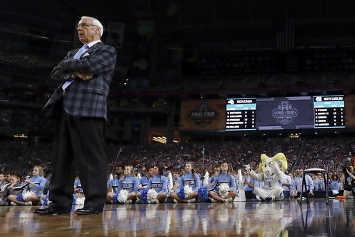 <div class='meta'><div class='origin-logo' data-origin='none'></div><span class='caption-text' data-credit=''>North Carolina head coach Roy Williams watches. (AP Photo/David J. Phillip)</span></div>