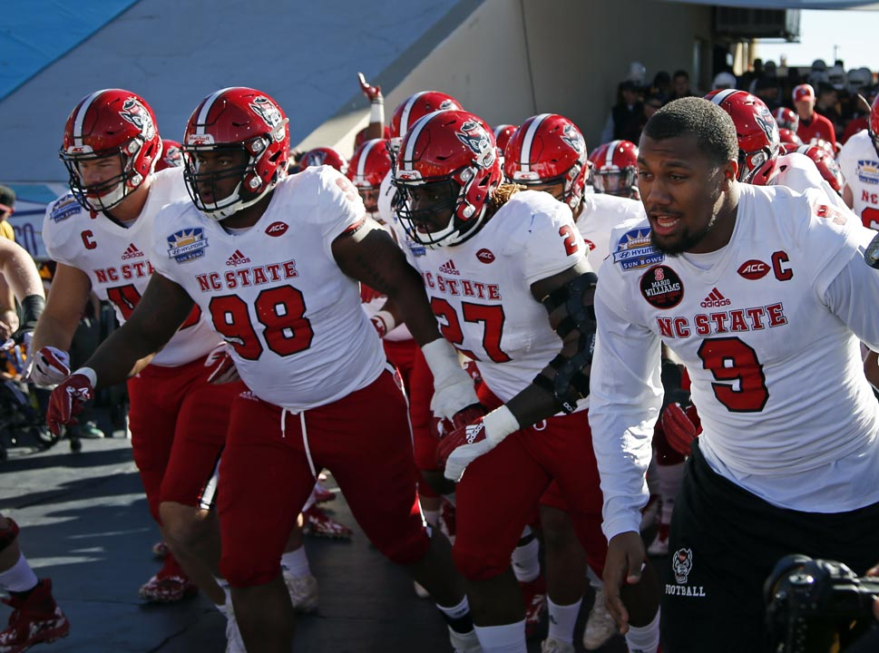 <div class='meta'><div class='origin-logo' data-origin='AP'></div><span class='caption-text' data-credit='Andres Leighton'>NC State players take the field to battle Arizona State in the Sun Bowl.</span></div>