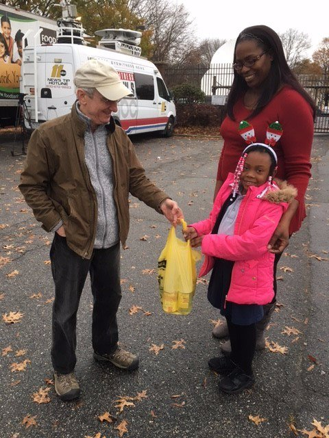 <div class='meta'><div class='origin-logo' data-origin='none'></div><span class='caption-text' data-credit=''>Before heading to school, Zariah insisted on stopping by the ABC11 Together Food Drive to drop off donations.</span></div>