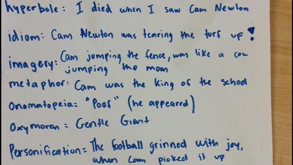 <div class='meta'><div class='origin-logo' data-origin='none'></div><span class='caption-text' data-credit='image courtesy WSOC'>Cam Newton plays football with Davidson seventh-graders</span></div>