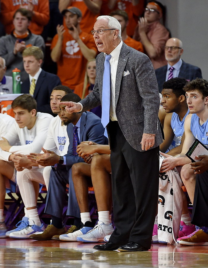 It was another frustrating night for Roy Williams whose Tar Heels lost to Clemson for the first time in 11 meetings