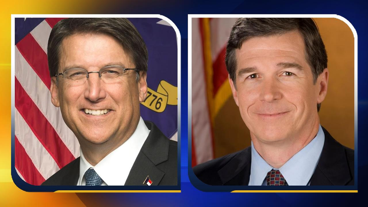 NC Governor Pat McCrory and NC Attorney General Roy Cooper.