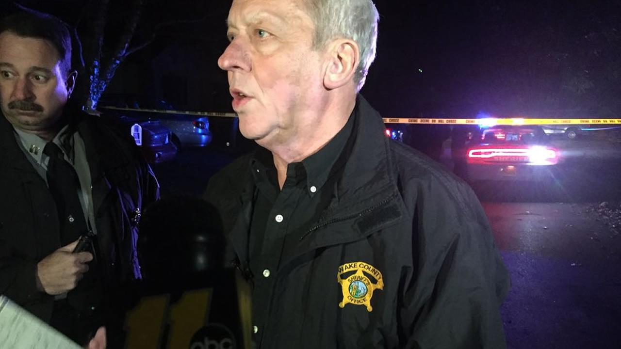 Wake County Sheriff Donnie Harrison speaks to the media about the shooting of a child.