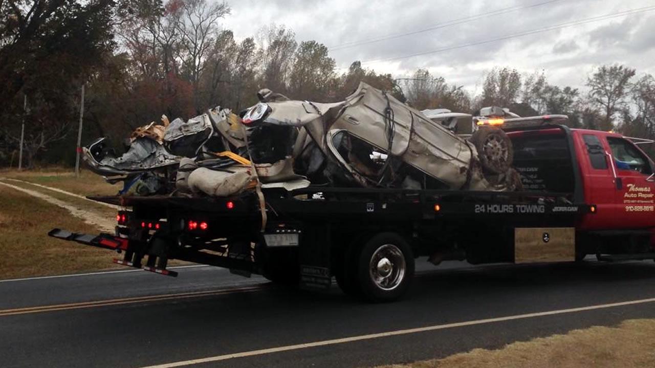 PHOTOS: 4 dead after car hits school bus