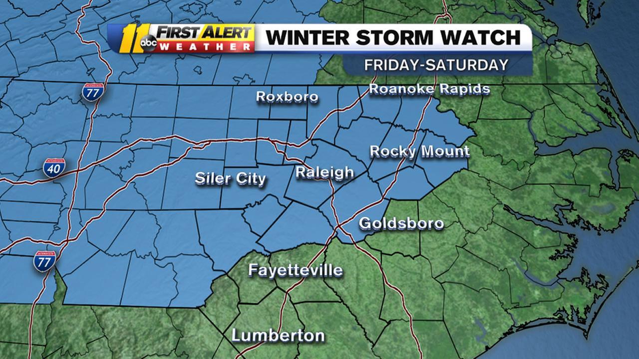 Snow, Rain, Sleet, likely this weekend
