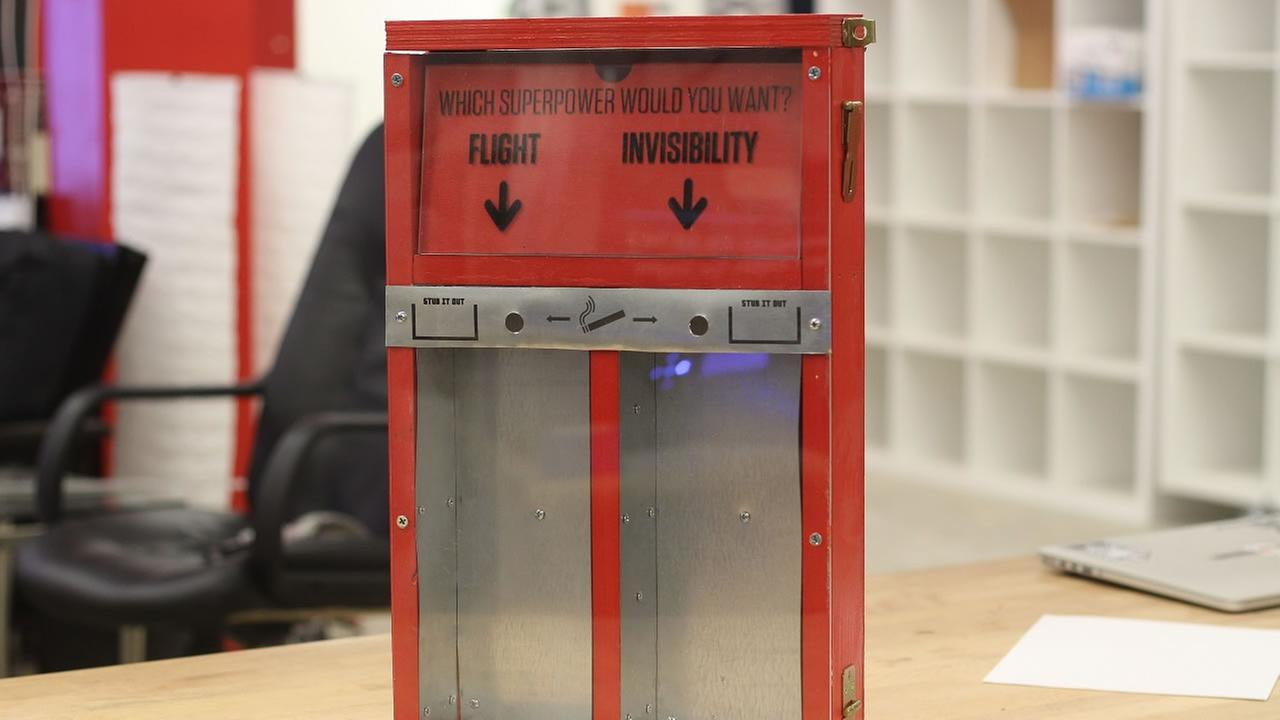 Each poll box is decorated with a question that has two possible answers.