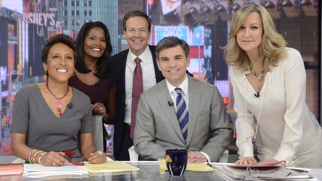 Tisha Powell and Steve Daniels visit the Good Morning America set