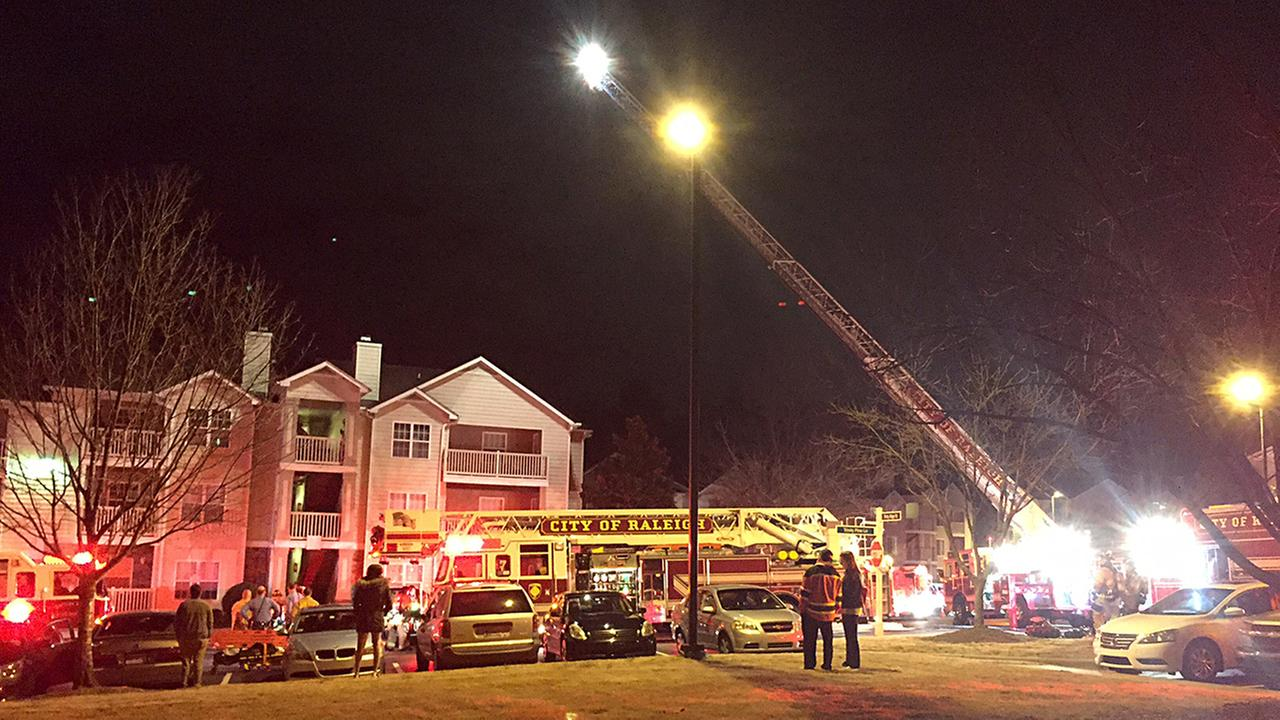 Fire Damages Apartment Unit In Raleigh