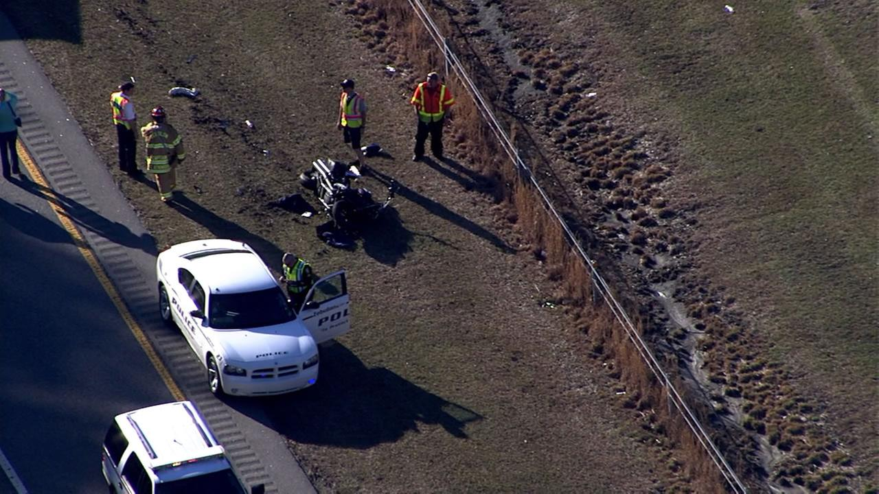 Motorcyclist hurt in crash on Hwy 64 east of  Raleigh