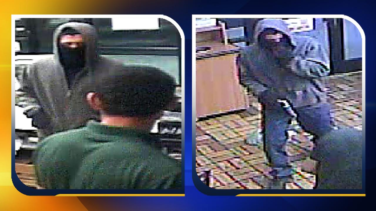 Video images of the armed robbery suspect.