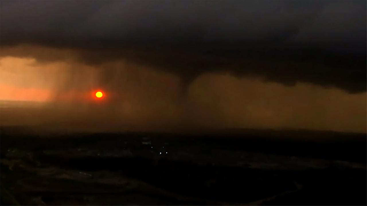 One of the tornadoes spotted in Tulsa on Wednesday.