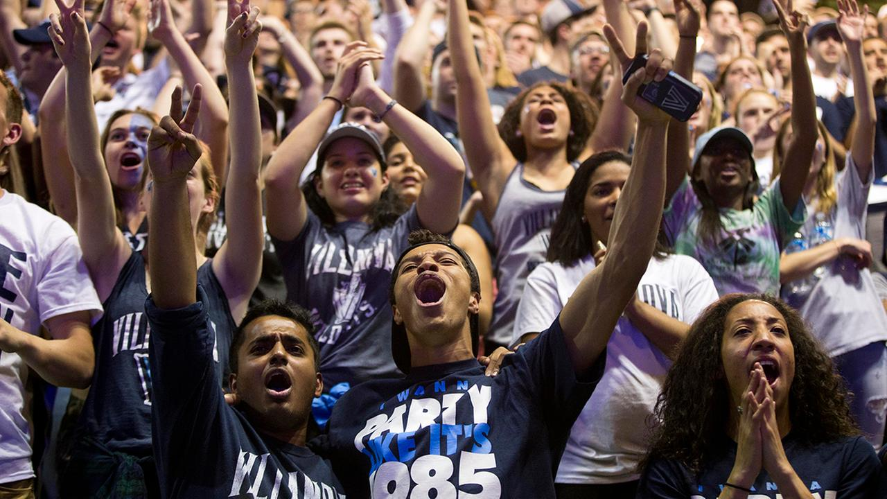Its a happy night for Villanova fans, who celebrate the schools first NCAA title since 1985.