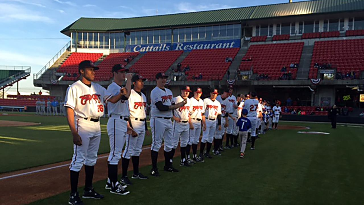 The Carolina Mudcats opened their home schedule Thursday, April 14.