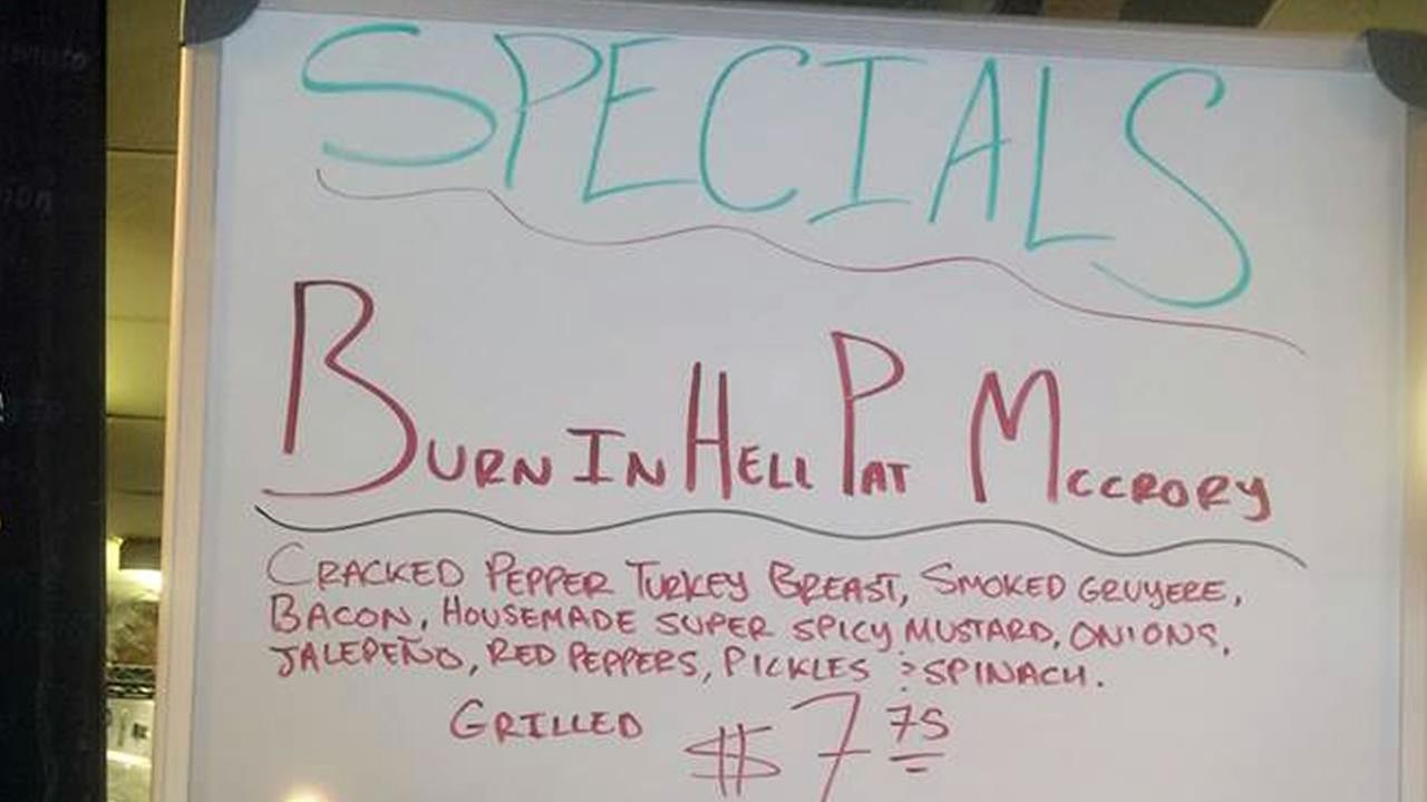 The Burn in Hell Pat McCrory sandwich (image courtesy Common Market deli)