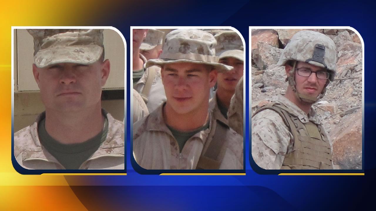 Staff Sgt. David H. Stewart, Lance Cpl. Brandon J. Garabrant, and Lance Cpl. Adam F. Wolff