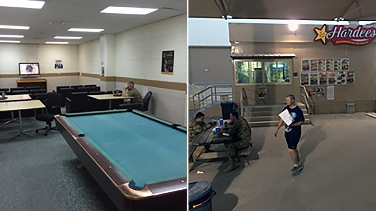 Recreation areas and food options from home help soldiers cope with being far from North Carolina.