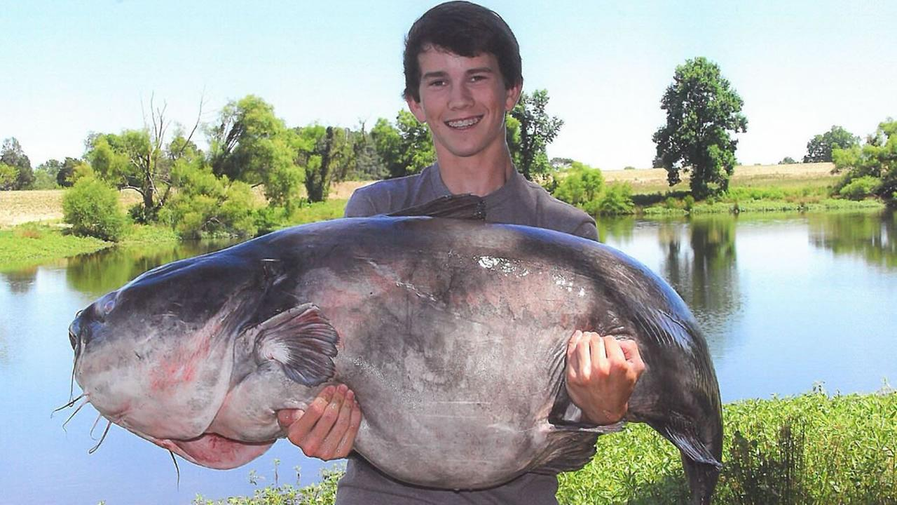 Landon Evans and his big ole fish (image courtesy NC Wildlife Resources Commission)