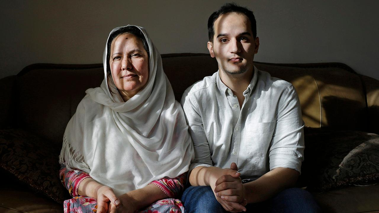 In this Dec. 10, 2014, photo, is Shamim Syed, left, whose son Adnan was convicted for the 1999 murder of his ex-girlfriend and her son Yusef.