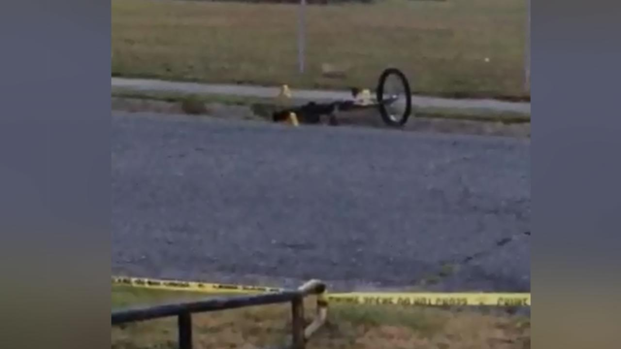 Pictures from the scene showed a bicycle on its side close to the body.