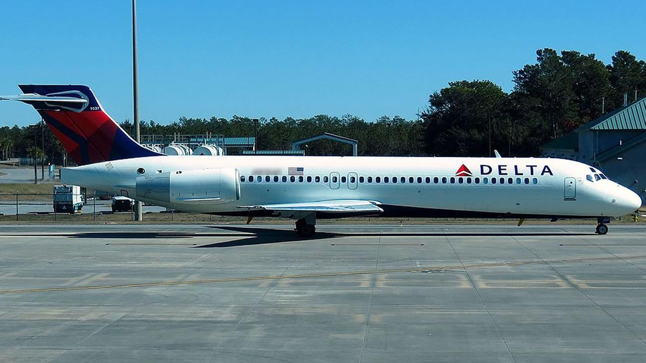 The plane was a Delta Boeing 717 similar to this one.