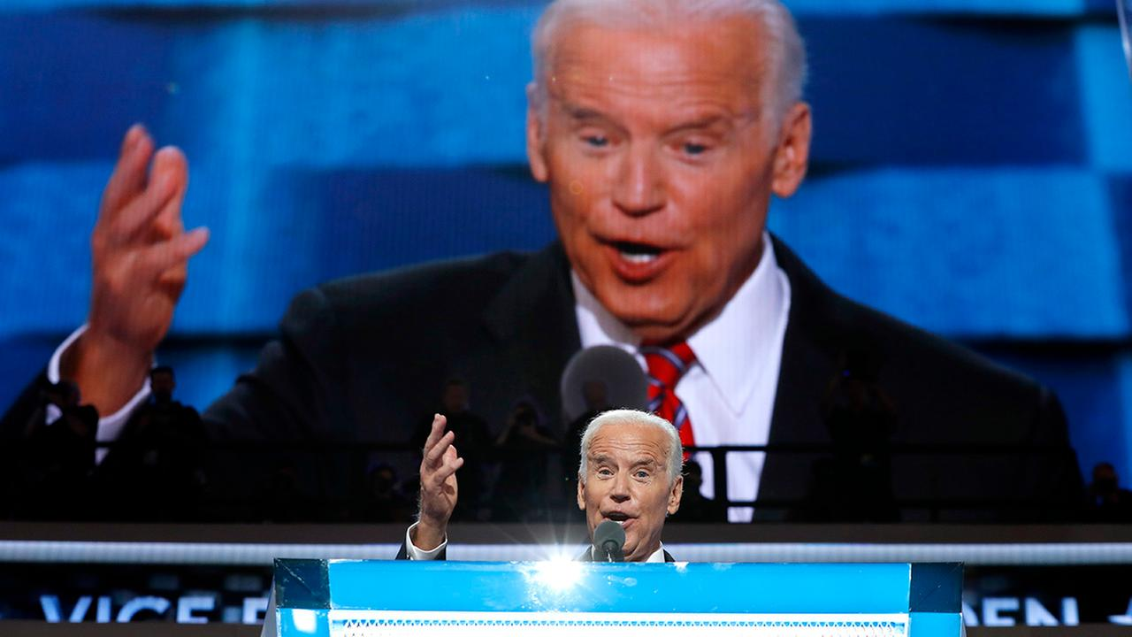 Vice President Joe Biden speaks at the DNC on Wednesday.